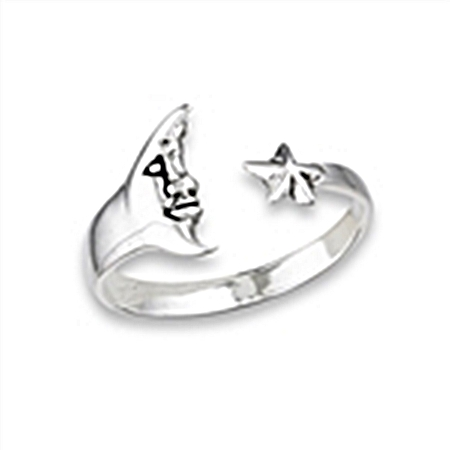Plus Size Ring Man in Moon and Star