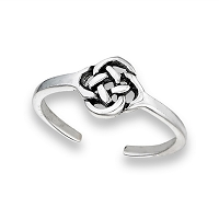 Celtic Toe Ring Sterling Silver