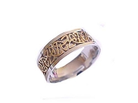 Celtic Large Size Ring Steel Two Tone