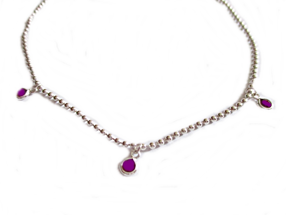 Amethyst Drop Long Bracelet