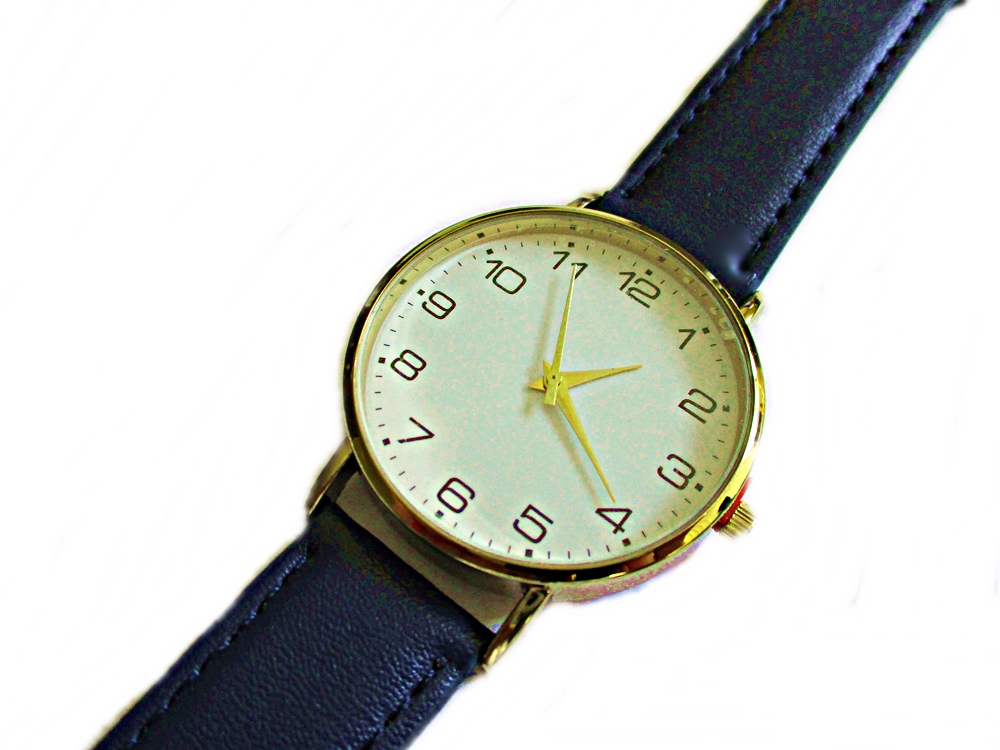 Men's Navy Strap Long Watch to 9 Inch