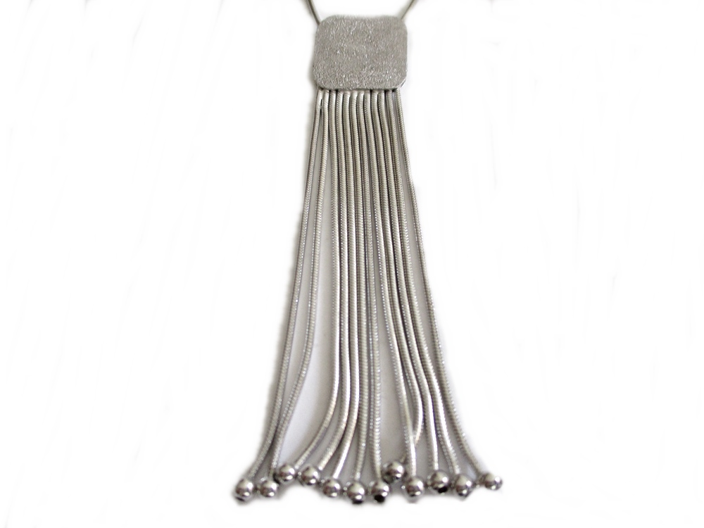 Square Tassels Plus Size Necklace