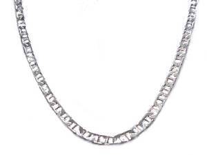 Men's Sterling Silver Marine Chain Long 24 Inch