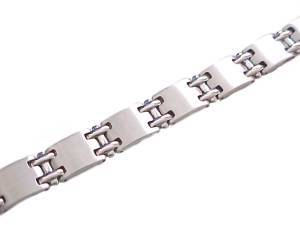 Long Steel Bracelet 8 Inch Women or Men
