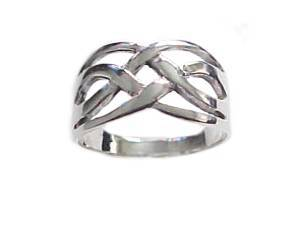 Plus Size Ring Silver Large Celtic Band