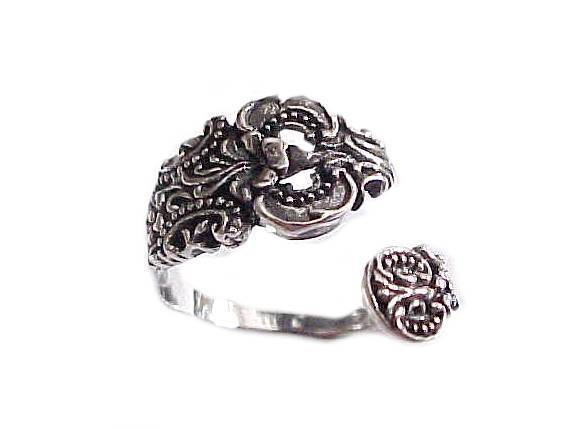 Ornate Spoon Ring Plus Size