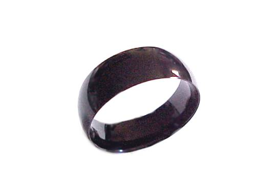 Black Band Plus Size Ring to  Size 17
