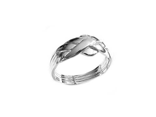 Large Size Sterling Silver Puzzle Ring