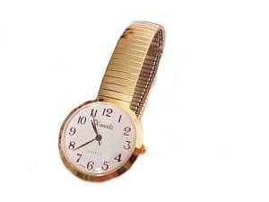 Plus Size Watch Gold Stretch Band
