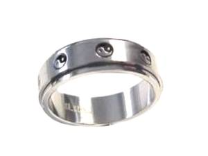 Ying and Yang Worry Ring Stainless Steel