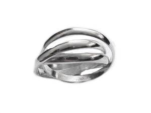 Triple Band Plus Size Ring Sterling Silver