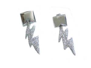 Lightning Bolt Sterling Silver Earrings