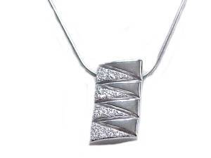 Zig Zag Sterling Silver Necklace 20 Inch