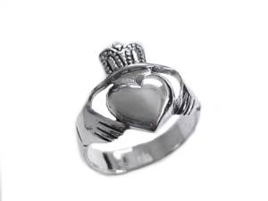 Silver Claddagh Plus Size Ring Size 9 or 10