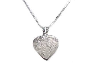 Heart Locket Plus Size Necklace Silver