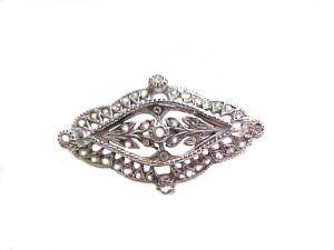 Silver Pin or Brooch Antique Style Made in Italy