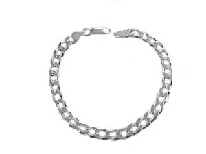 Men's Plus Size Silver Curb Bracelet 9