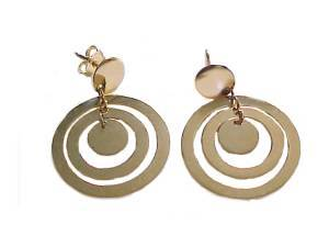 14k Gold Double Flat Hoop Earrings
