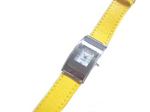 Plus Size Watch Yellow Strap to 8 Inch