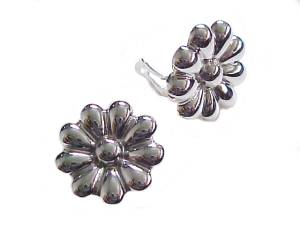 Flower Sterling Silver Clip Earrings