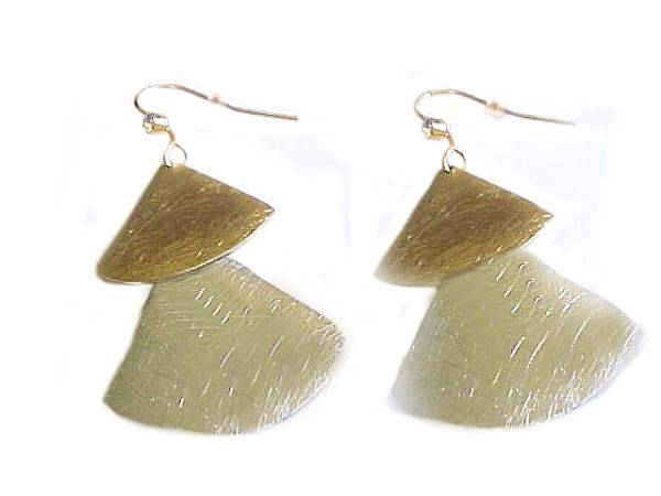 Two Tone Earrings Fashion Jewelry Fans