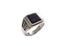 Celtic Men's Plus Size Ring Black Onyx