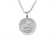 Saint Michael Medallion Necklace Men's