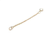 14K Gold Necklace Extender 2 inch