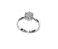 Round Plus Size Engagement Ring Silver