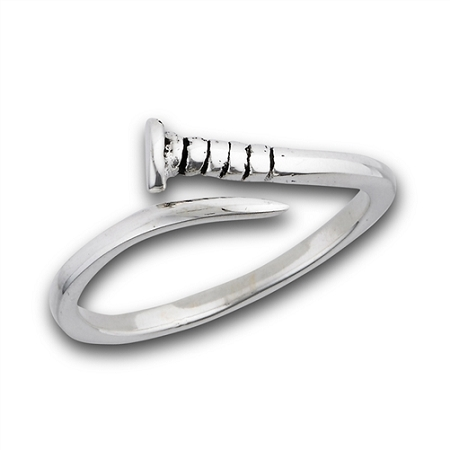 Nail Plus Size Ring Sterling Silver