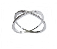 Plus Size Ring Silver Overlap