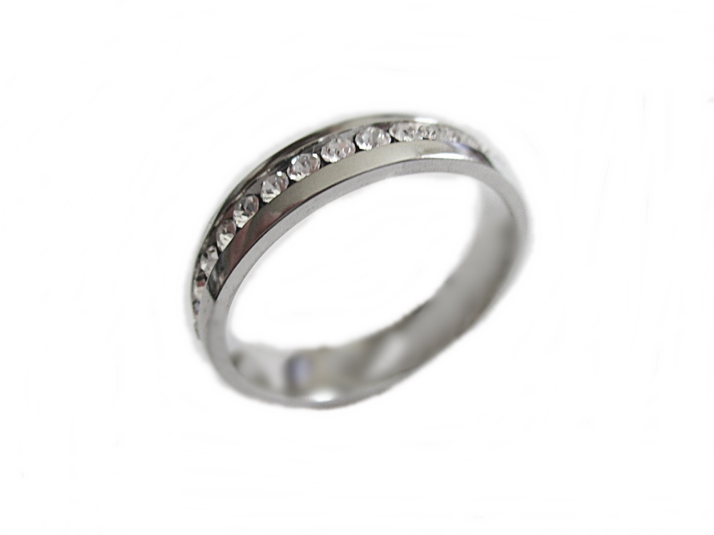 Clear Cz Plus Size Ring