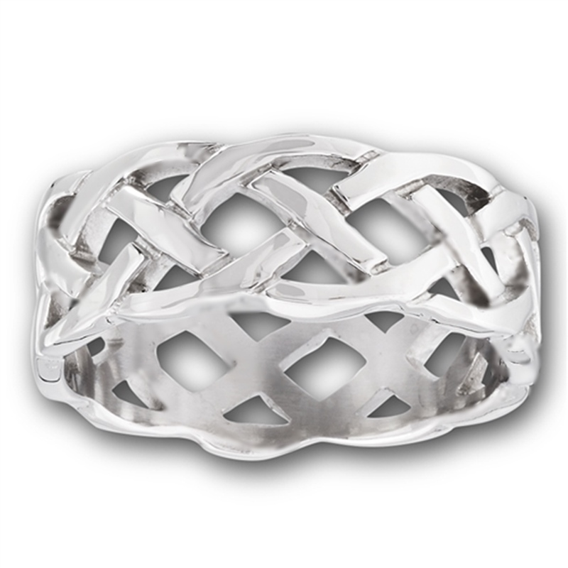 Celtic Weave Plus Size Ring Steel