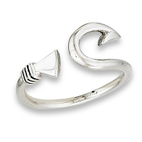 Fish Hook Plus Size Ring Sterling Silver