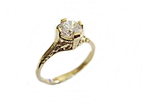 Size 12 Large Size 14K Gold Engagement Ring