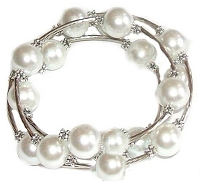 White Spiral Large Size Bracelet 8 to10 Inch