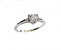Engagement Ring Heart Cz