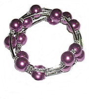 Purple Spiral Large Size Bracelet