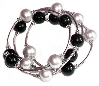 Black and Silver Large Size Bracelet