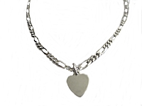 Flat Heart Plus Size Ankle Bracelet
