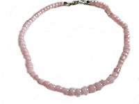 Plus Size Ankle Bracelet Pink Beads
