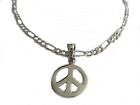 Peace Sign Plus Size Ankle Bracelet