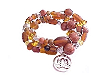 Lotus Plus Size Bracelet Brown Spiral