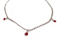 Little Garnets Long Bracelet