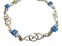 Celtic Blue Opal Plus Size Bracelet