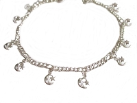 Moon and Star Plus Size Bracelet