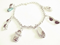 Charm Bracelet Large Size 8 to 10 Inch