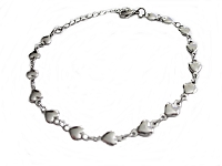 Tiny Hearts Steel Plus Size Bracelet