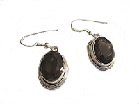 Smokey Topaz French Wire Earrings