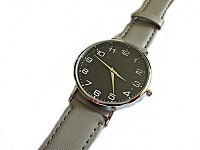 Men's Gray Strap Long Watch to 9 Inch